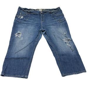 HYDRAULIC Jeans Straight Distressed Denim 24W Blue